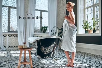 Premiumtex handtuch zum baden und duschen