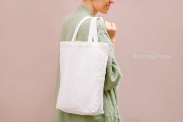 Premiumtex Baumwolltasche in weiß bedrucken