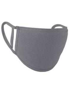 Premiumtex Mundnasenmaske flex aus Baumwolle im 5-er Pack hellgrau