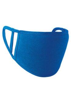 Premiumtex Mundnasenmaske flex aus Baumwolle im 5-er Pack blau