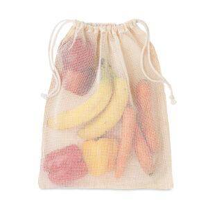 Premiumtex veganer Einkaufsbeutel aus Baumwolle für Obst und Gemüse