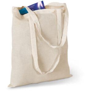 Gemaco Baumwolltasche basic 105 gsm Einkaufstasche aus Baumwolle mit langen Tragegriffen. Farbe: natur beige