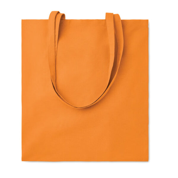 Baumwolltasche farbig mit langen Henkeln 110 gsm in orange