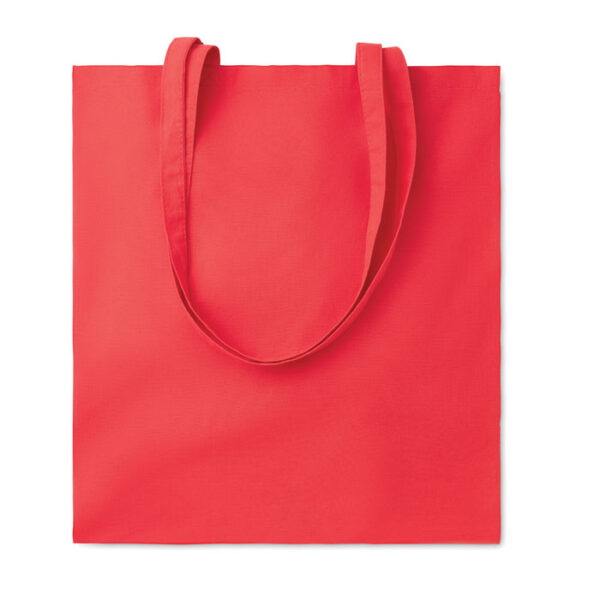 Baumwolltasche farbig mit langen Henkeln 110 gsm in rot