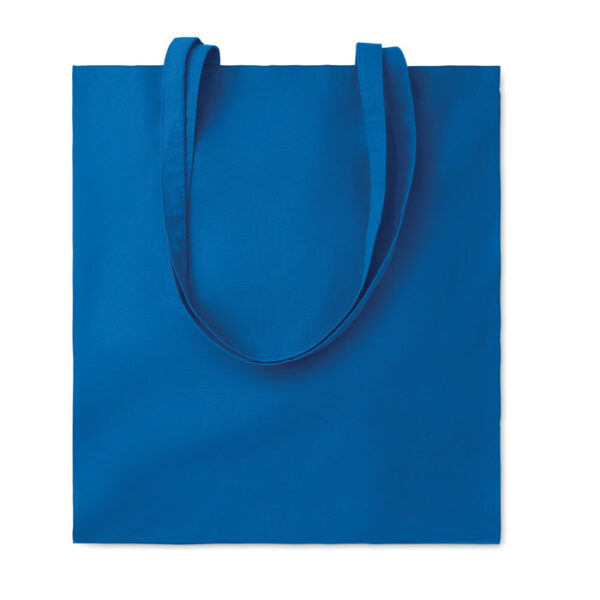 Baumwolltasche farbig mit langen Henkeln 110 gsm in blau