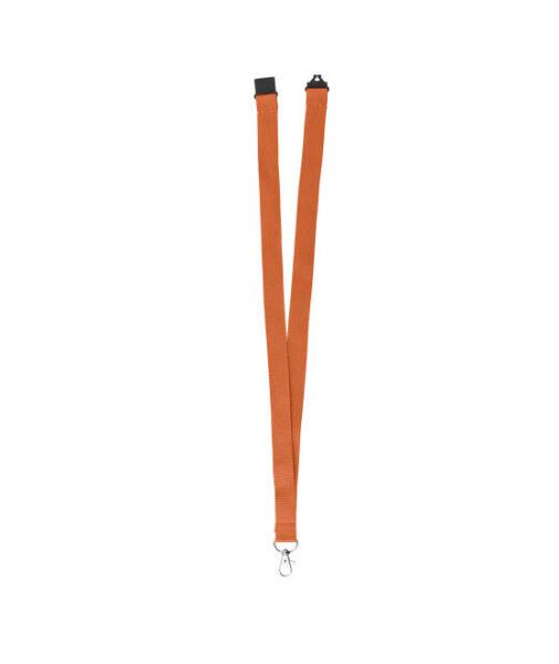 Umweltfreundliche Premiumtex Lanyards RPET orange