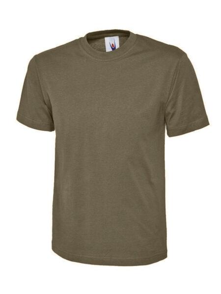 Klassisches Uneek T-Shirt unisex armeegrün