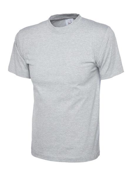 Klassisches T-Shirt unisex Uneek in grau meliert