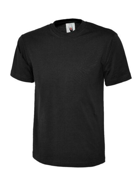 Klassisches Uneek T-Shirt unisex schwarz