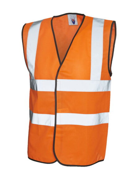 Warnweste Signalweste als Arbeitskleidung signalorange