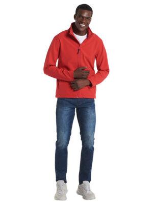 Wasserdichte und winddichte Uneek Soft Shell Jacke im klassischen geraden Schnitt.