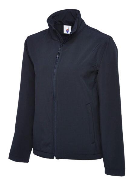Klassische Softshell Jacke marineblau