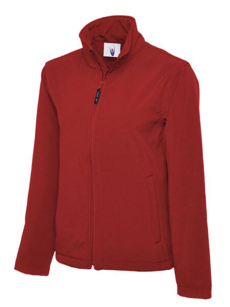 Klassische Softshell Jacke rot