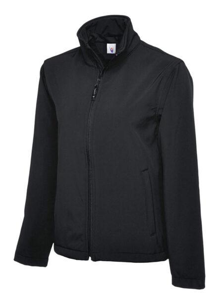 Klassische Softshell Jacke schwarz