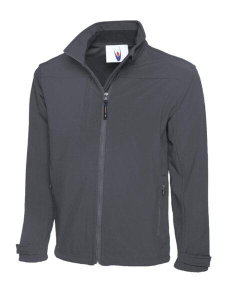 Premium Softshell Jacke grau