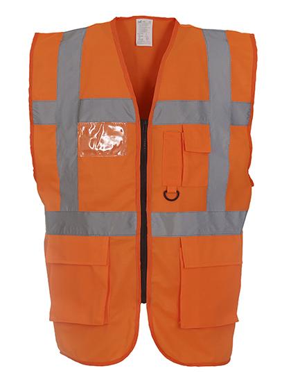 Warnweste Bauleiter orange EN ISO20471:2013 Klasse 2