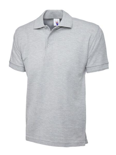 Poloshirt Workwear Premium hellgrau meliert
