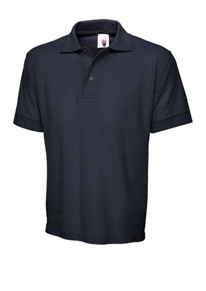 Poloshirt Workwear Premium hellgrau marineblau