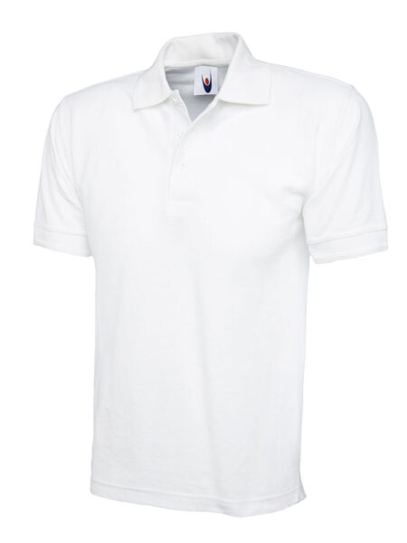 Poloshirt Workwear Premium hellgrau weiss