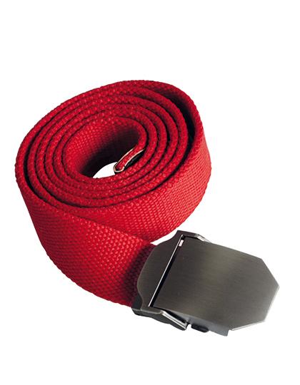 Textiler Gürtel rot