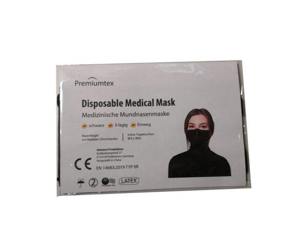 197089 Mundnasenmaske in schwarz in Einzelverpackung