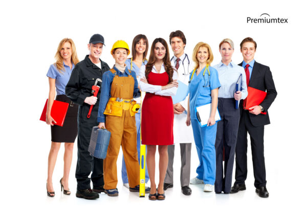 Bekleidung für Mitarbeiter mit Firmenlogo