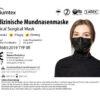 Premiumtex OP Maske in schwarz Medizinische Einweg-Mundnasenmaske