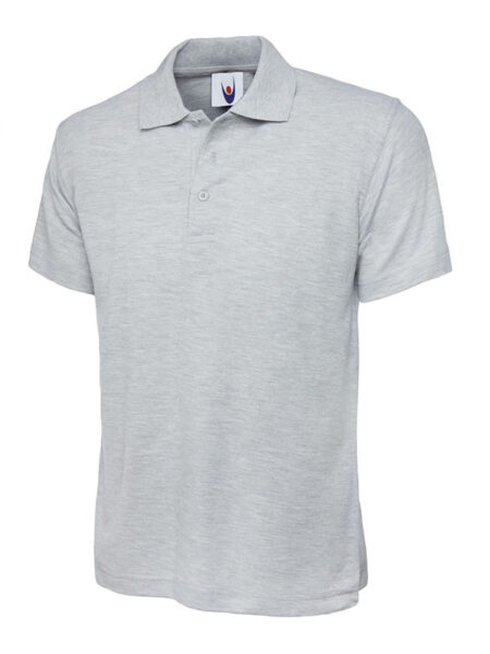 Klassisches Poloshirt Straight fit hellgrau-meliert