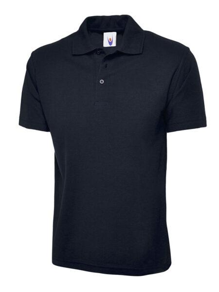 Klassisches Poloshirt Straight fit navyblau