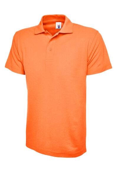 Klassisches Poloshirt Straight fit orange