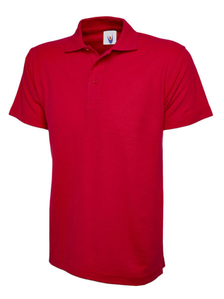 Klassisches Poloshirt Straight fit rot