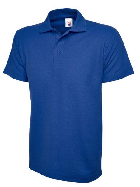 Klassisches Poloshirt Straight fit blau