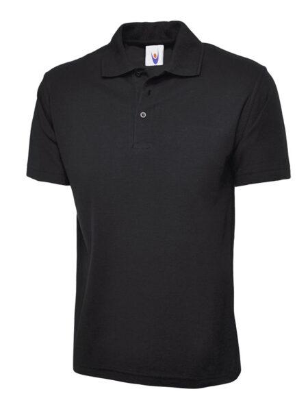Klassisches Poloshirt Straight fit schwarz