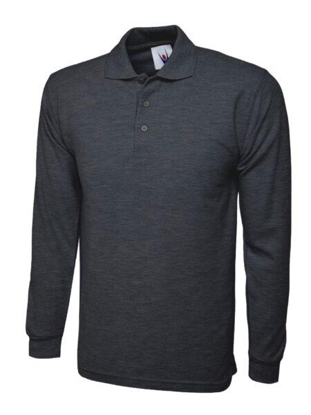 Poloshirt Premiumtex mit langen Ärmeln anthrazit