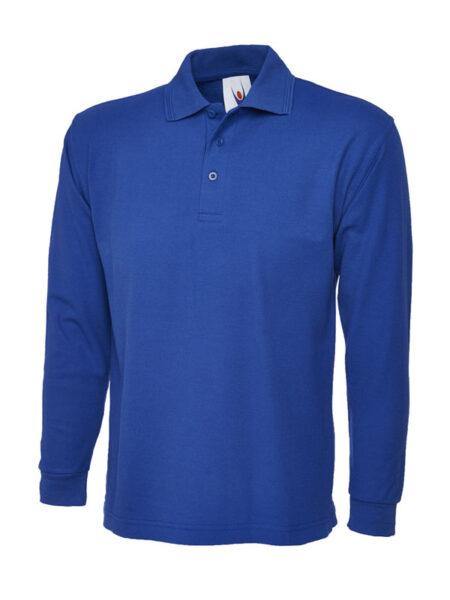 Poloshirt Premiumtex mit langen Ärmeln blau