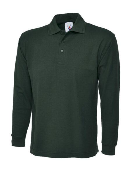 Poloshirt Premiumtex mit langen Ärmeln grün