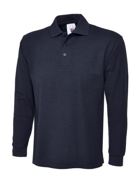 Poloshirt Premiumtex mit langen Ärmeln navyblau