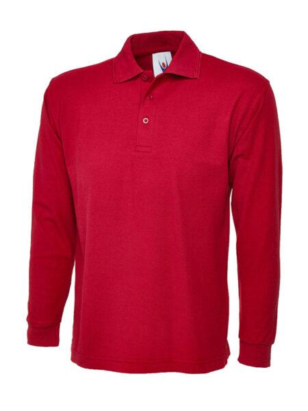 Poloshirt Premiumtex mit langen Ärmeln rot