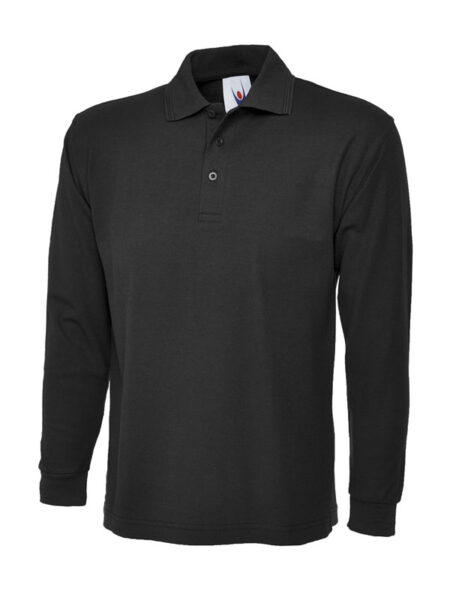 Poloshirt Premiumtex mit langen Ärmeln schwarz