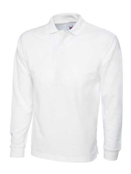 Poloshirt Premiumtex mit langen Ärmeln weiss