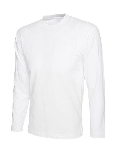 T-Shirt mit langen Ärmeln aus 100% Baumwolle weiss
