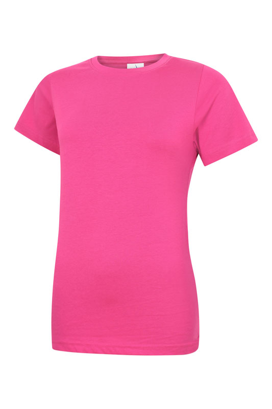 Damen T-Shirt aus 100% Baumwolle pink