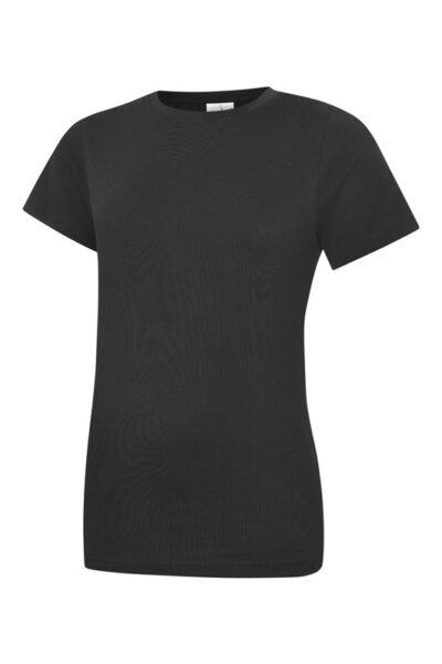 Damen T-Shirt aus 100% Baumwolle schwarz