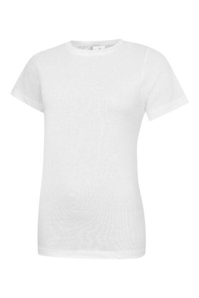 Damen T-Shirt aus 100% Baumwolle weiß