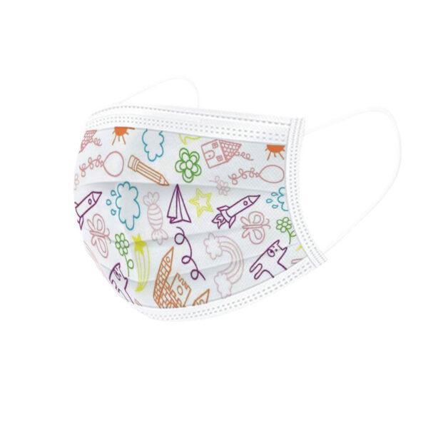 Premiumtex medizinische Mundnasenmaske für Kinder Fliegermotiv