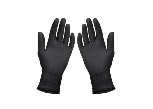 Premium Nitril Handschuhe schwarz, CE 0123 nach Direktive 93/42/EEC.